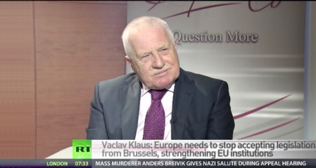 Václav Klaus: Interview for Russia Today